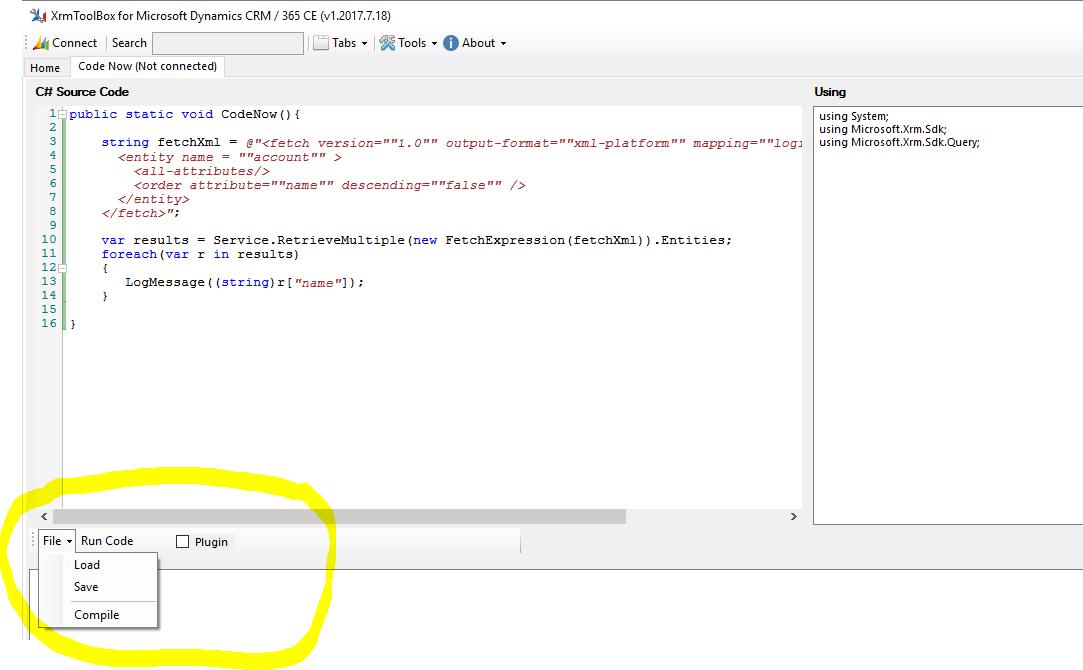 Code Now: run the code, build a plugin, or create a utility