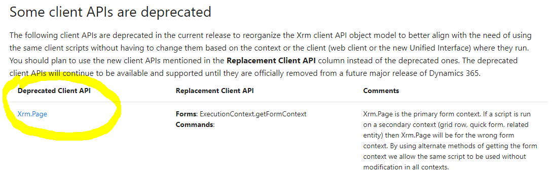 New in V9: What's that with Xrm Page being deprecated? | It Ain't Boring