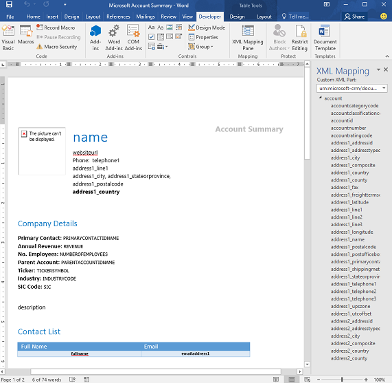 Wordexcel templates rock in dynamics microsoft dynamics crm httpsmicrosoften usdynamicscrm customer centerusing word templates in dynamics 365px pronofoot35fo Image collections