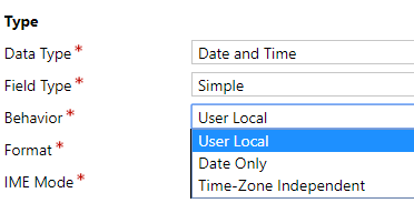 Dates in Dynamics: TimeZone Independent vs User Local - Microsoft