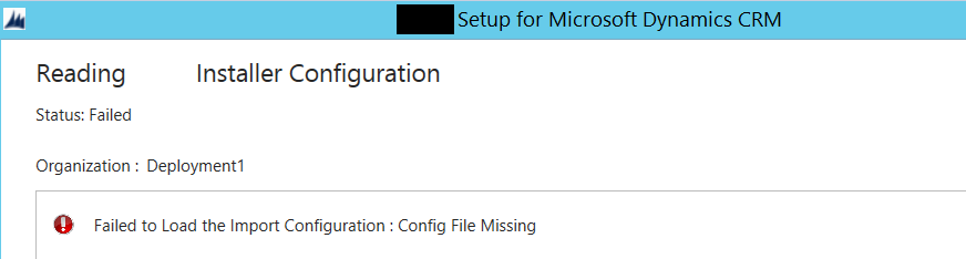 PackageDeployer – failed to load the import configuration