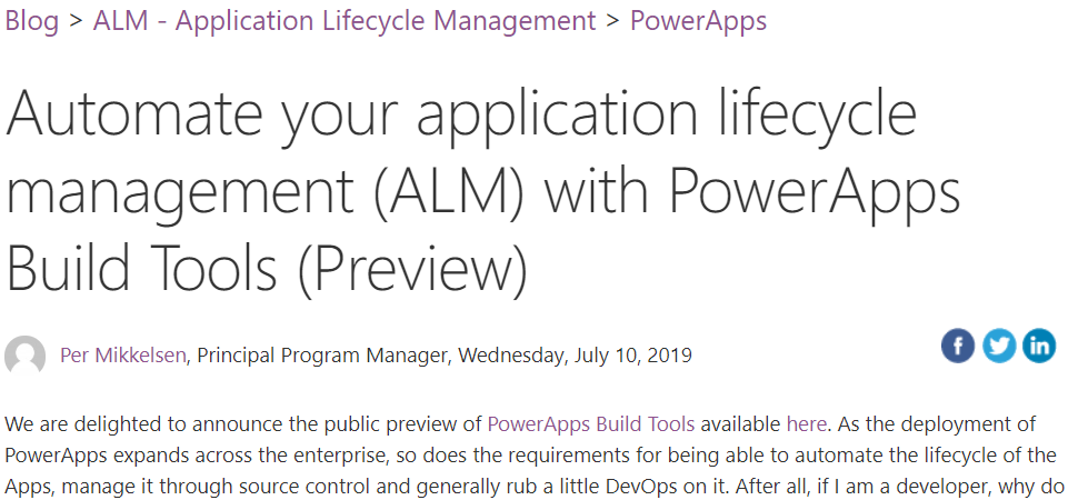 Public Preview of PowerApps Build Tools   It Ain't Boring
